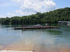 Photo of Helm's Ferry leaving Union County Boat Dock on the Powell River in Tennessee