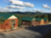 Front Facades of Tiny Houses at Well Being Retreat Center in Tazewell, TN