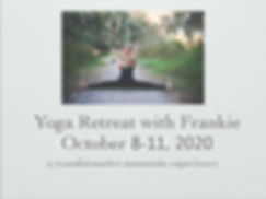 Frankie Hart Yoga Retreat Tennessee 2020