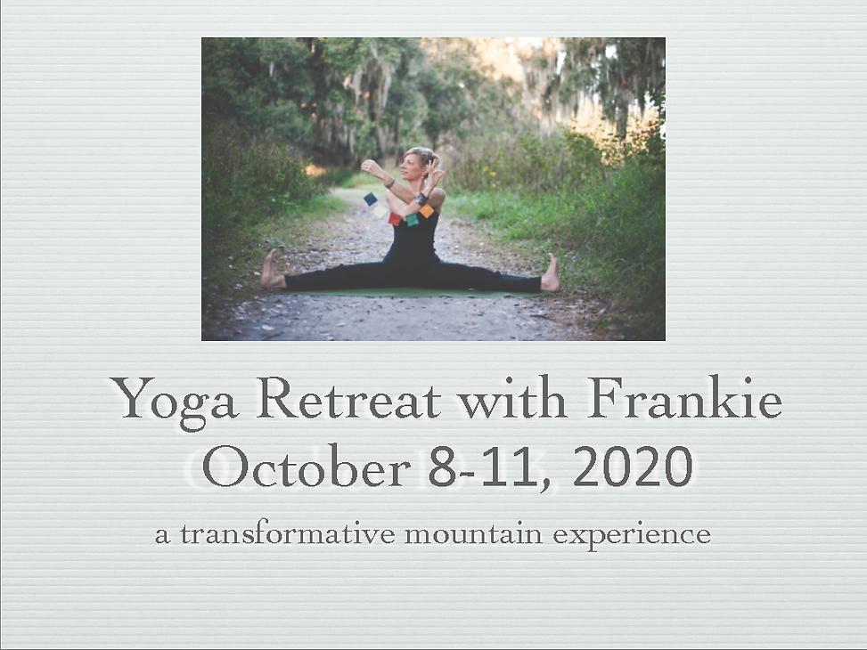 Frankie Hart Yoga Retreat Tennessee 2020