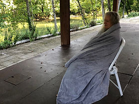 Patty Modelling Stadium Blanket.jpg
