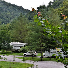 Photo of Mountain Pass Campground on the Powell River in Claiborne County, TN