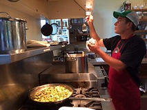 A photo of Cooking on the Six Burner Range at Well Being Retreat Center