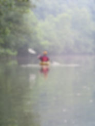 Photo of a paddler on the Powell River in Claiborne County, TN