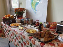 Photo of Snack Table at Retreat Center