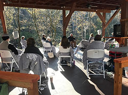 Open Air Powell River Pavilion at Well Being Retreat Center in Tazewell, TN