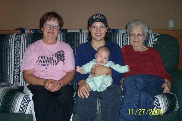 4 generations: Mom, Me, Stone, Gram