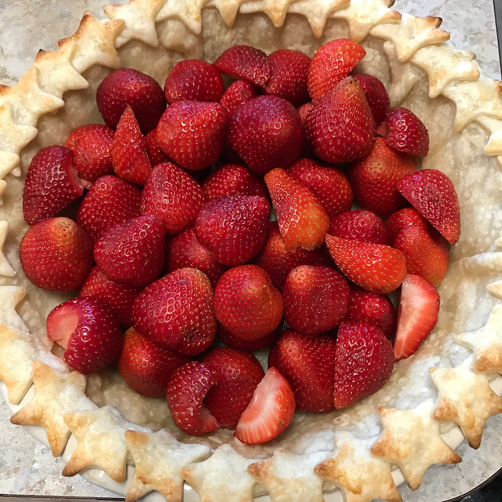 Strawberries Pie Crust