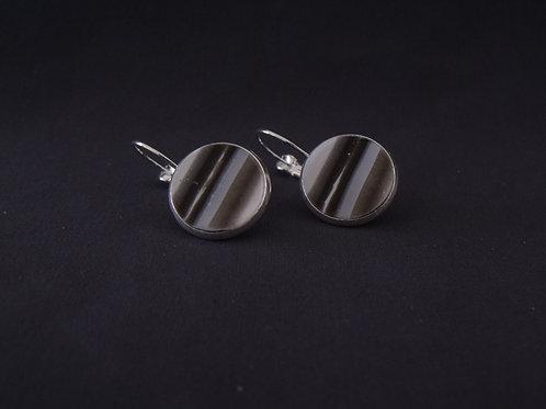 Black & White Silver Drop Earrings | Salt Spray Jewellery