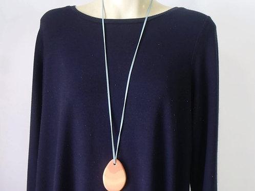 Long Orange Chunky Pendant Necklace | Salt  Spray Jewellery