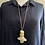Thumbnail: Avocado/White Adjustable Pendant Necklace