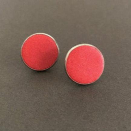 Sunset Red Stainless Steel Studs | Salt Spray Jewellery
