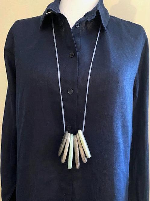 Long Pale Blue/Grey Ocean Necklace no.22