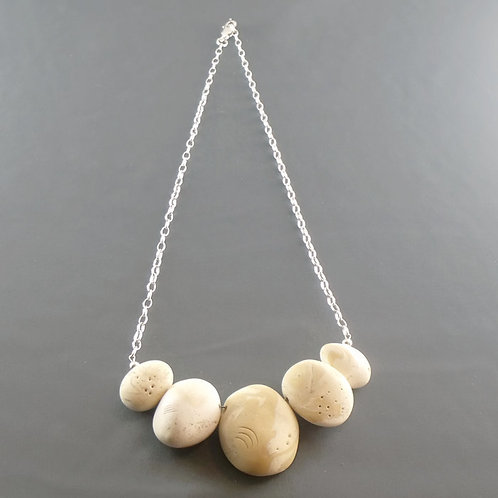 Sterling Silver Pebble Necklace no.13