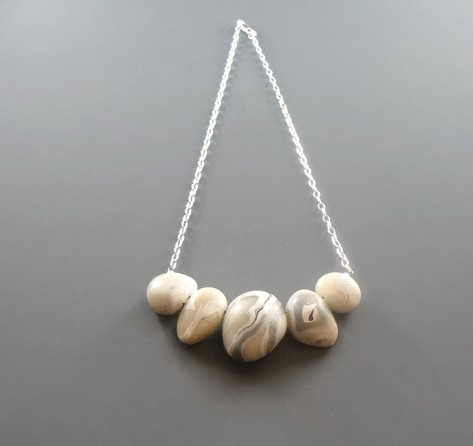 Sterling Silver Pebble Necklaces