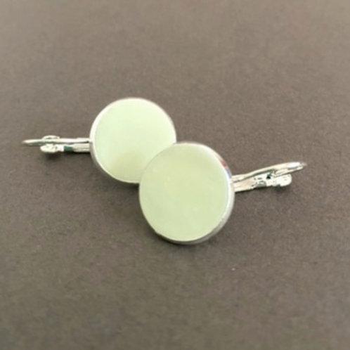 Pale Green Drop Earrings | Salt Spray Jewellery