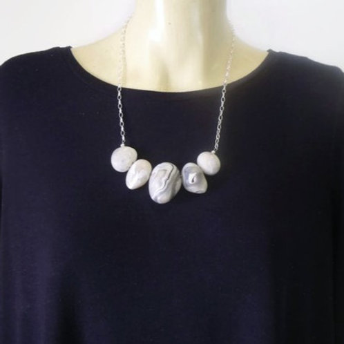 Sterling Silver Pebble Necklace no.6