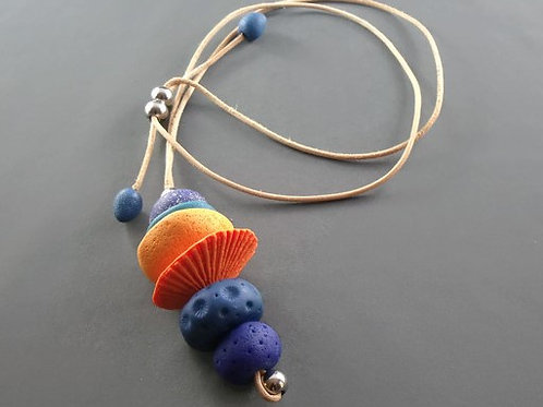 Sunset Y-Shaped Pendant Necklace