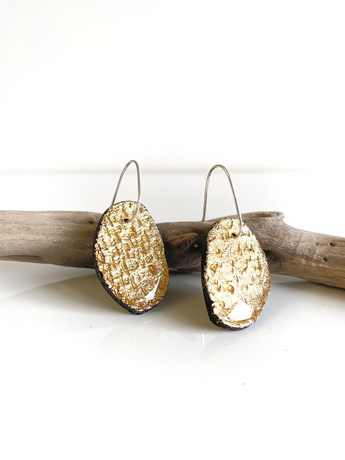 Black & Gold Statement Earring | Salt Spray Jewellery
