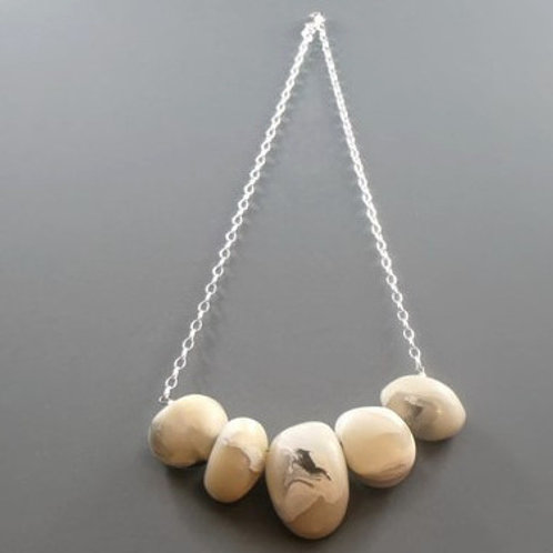 Sterling Silver Clay Pebble Necklace | Salt Spray Jewellery