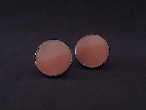 Pink stainless steel stud earrings | Salt Spray Jewellery