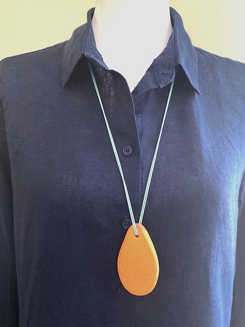 Orange Long Paddle Pendant Necklace 10