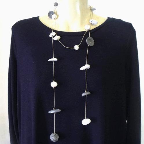 Long Wrap Clay Necklace | Salt Spray Jewellery
