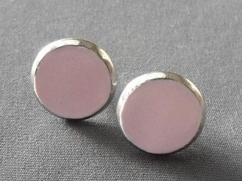 stainless steeel stud earring baby pink | Salt Spray Jewellery
