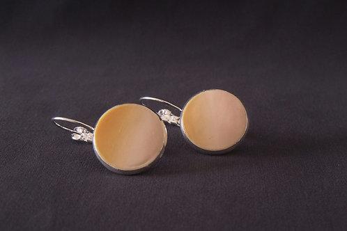 Pale Apricot Silver Drop Earrings | Salt Spray Jewellery