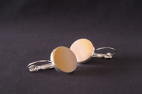 Pale Apricot Silver Drop Earrings | Salt Spray Jewellery