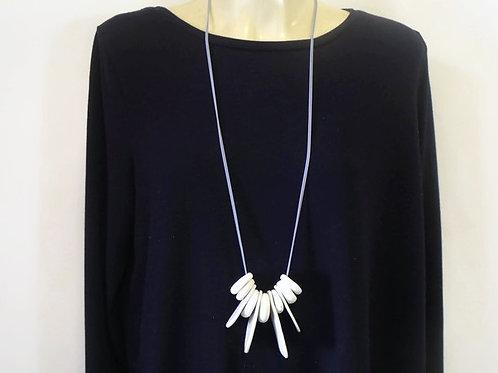 Long White Ocean Necklace no.16