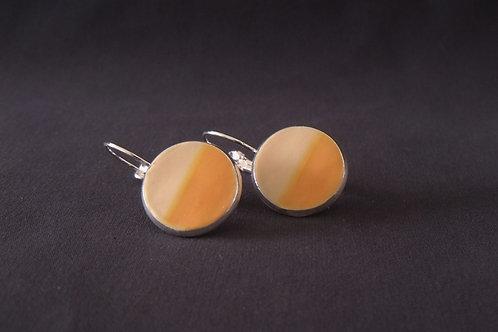 Orange & Apricot Silver Drop Earrings | Salt Spray Jewellery