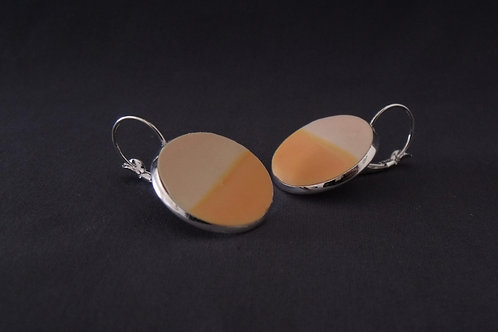 Apricot & Orange Silver Plated Large Drop Earrings