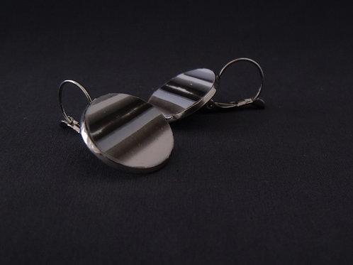 Black & Grey Silver Drop Earrings | Salt Spray Jewellery