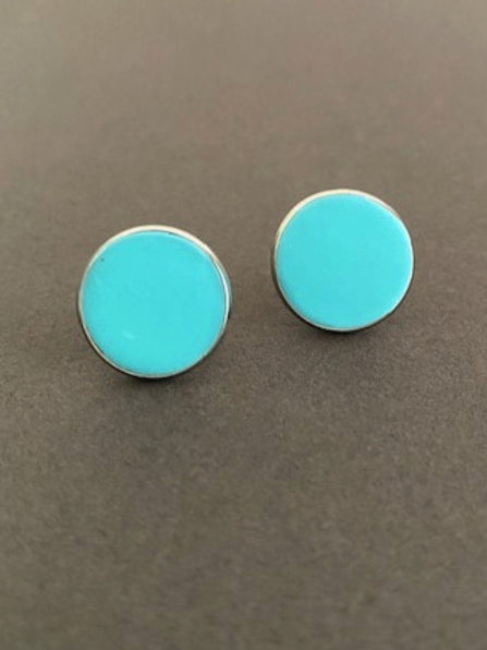 Turquoise Blue Stud Earrings | Salt Spray Jewellery