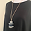 Deep Grey Pebble Pendant Necklace