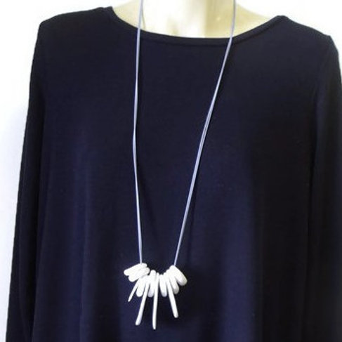 Long White Ocean Statement Necklace | Salt Spray Jewellery