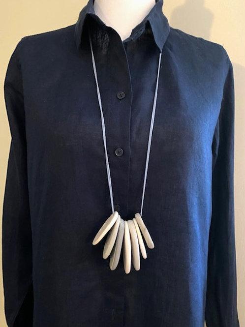 Long Grey/White Ocean Necklace no.21