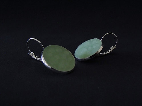 SeaGlass Green Silver Drop Earrings | Salt Spray Jewellery