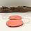 Vivid Pink resin & clay statement earring   Salt Spray Jewellery