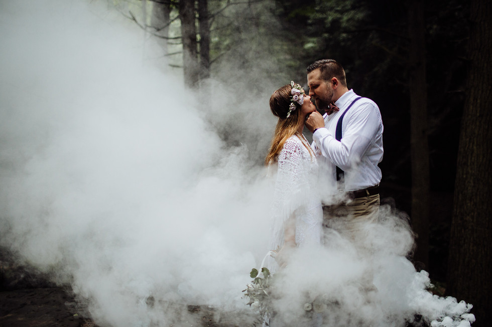 Daniel + Jamie || Hocking Hills, Elopement, Ohio