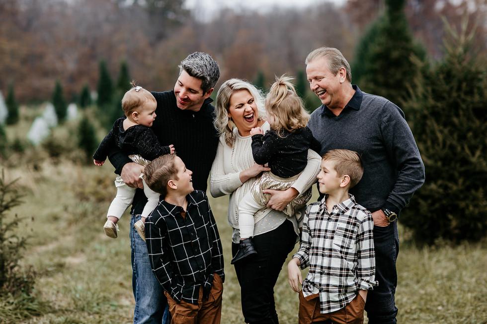 Caudill Family || Christmas session, Big Tree Plantation, Morrow, OH