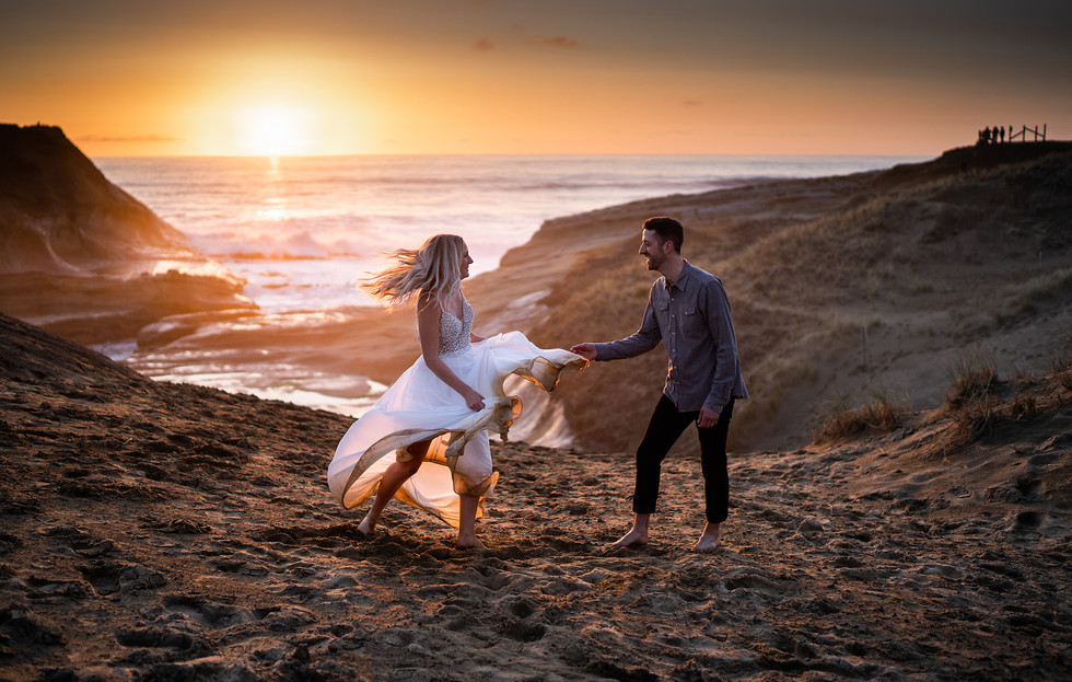 Josh + Nicole || Elopement, Pacific city, Oregon