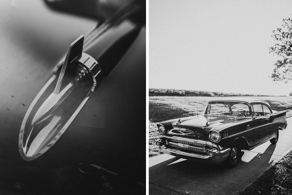 Luke + AnneMarie, Vintage car engagement session || Kentucky, KY