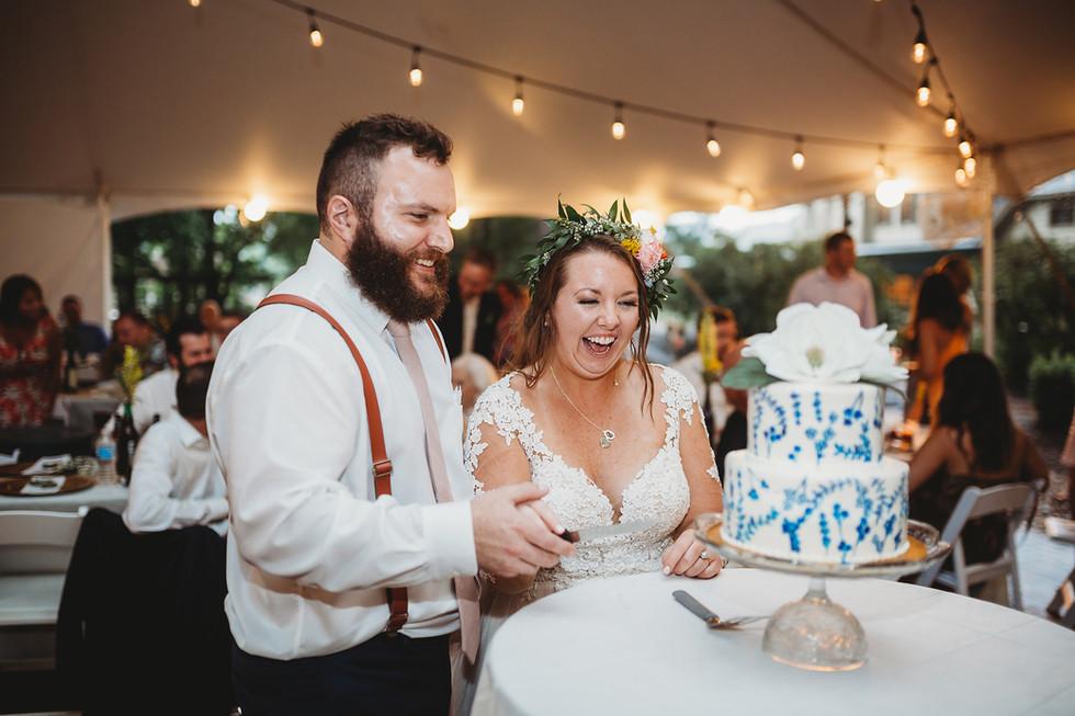 Marc + Katie, bright and colorful! || Benham's Grove, Wedding, Dayton