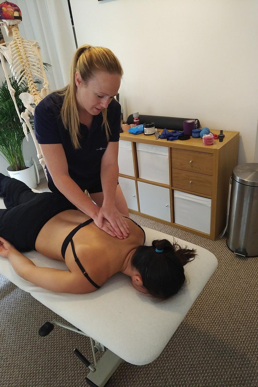 Penny Marshall, sports massage therapist