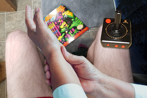 Bathroom wrist pains after wrangling one's joystick