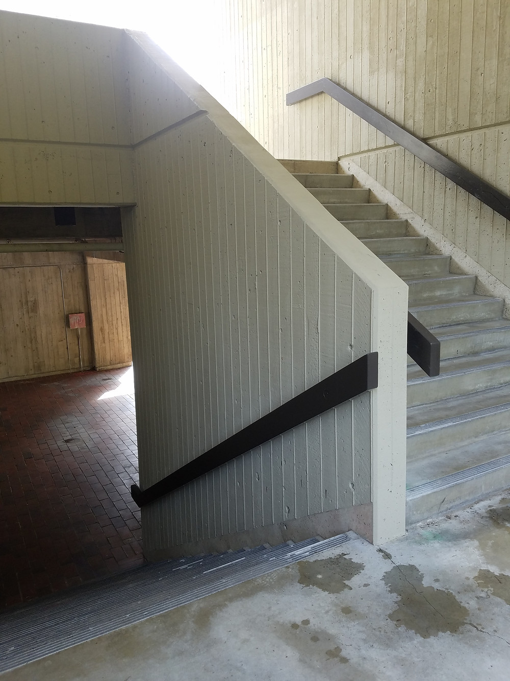 Cement Stairwell near the swimming pool and CAB building