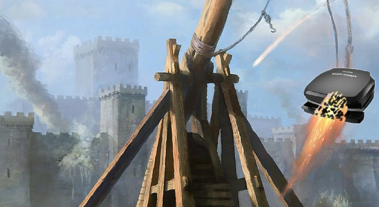 WH Wants More N. Korea Options from Pentagon, Receives George Foreman Grill-Launching Trebuchet