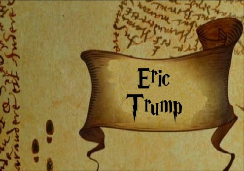 """I Solemnly Swear That I Am Up to No Good,"" Whispers Eric Trump"